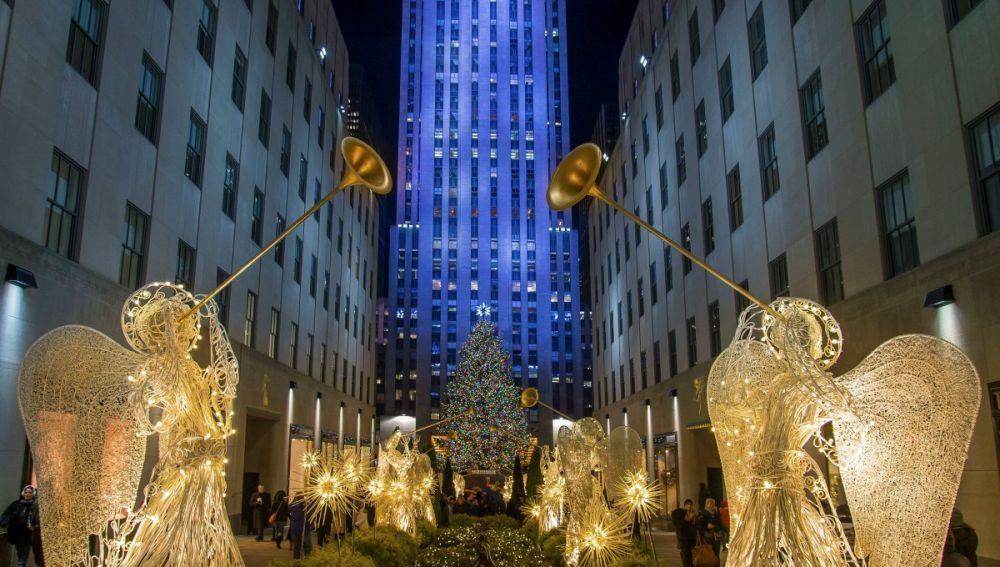 Hoteles decorados en Navidad