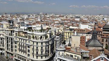 Imagen de la ciudad de Madrid desde el aire
