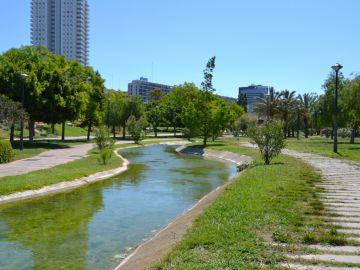 El antiguo cauce del rio Turia
